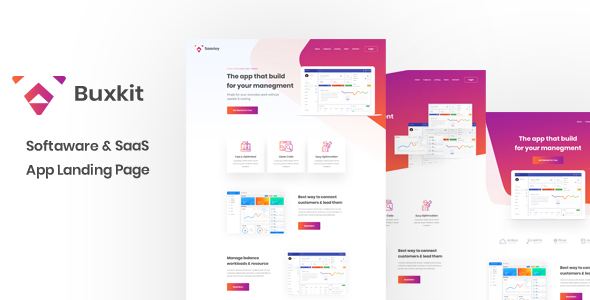 Buxkit - Software Landing Page        TFx Thorley Jonathan