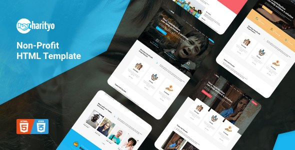 Charityo - NonProfit Fundraising Charity HTML Template        TFx Mortimer London