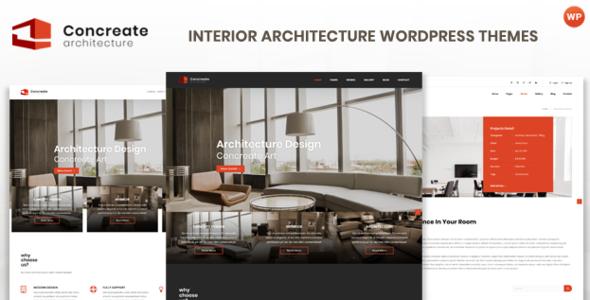 Concreate - Interior Architecture Interactive WordPress Theme        TFx Shiori Rod