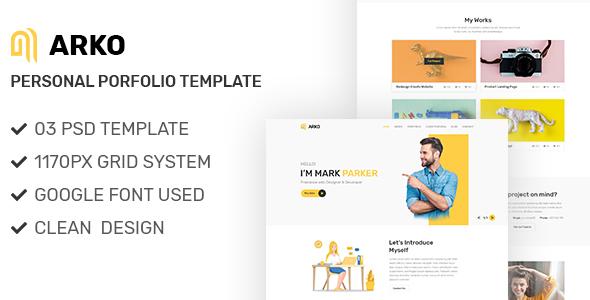 Creative Portfolio PSD Template        TFx Caiden Nazar