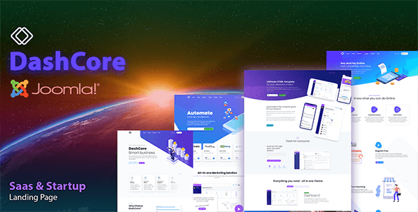 DashCore - SaaS, Startup & Software Joomla Template        TFx Gaylord Sefton