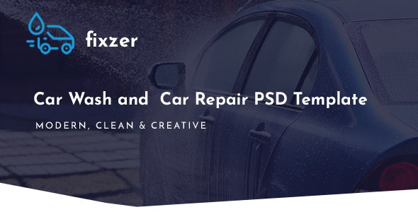 Fixzer - Car Wash & Car Repair PSD Template        TFx Baishan Jo