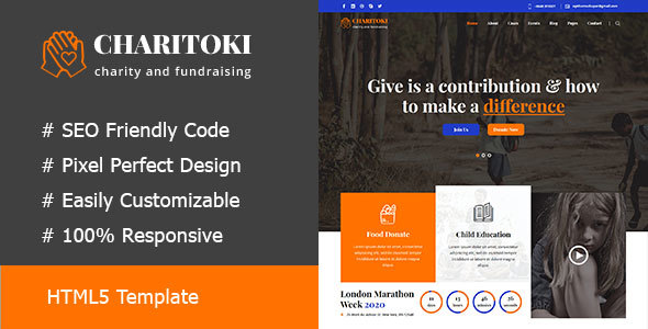 Fundclub - Charity & Nonprofit Fundraising HTML5 Template        TFx Napoleon Raine