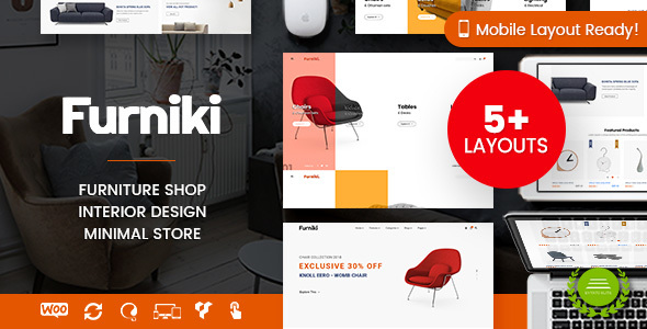 Furniki - Furniture Store & Interior Design WordPress Theme        TFx Kelcey Hayato