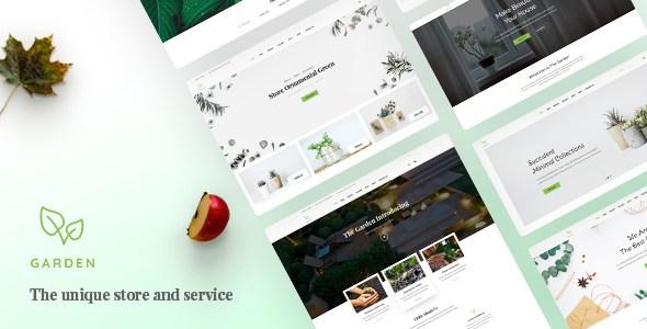 Garden - Lawn & Landscaping Bootstrap 4 Template        TFx Caedmon Kimball