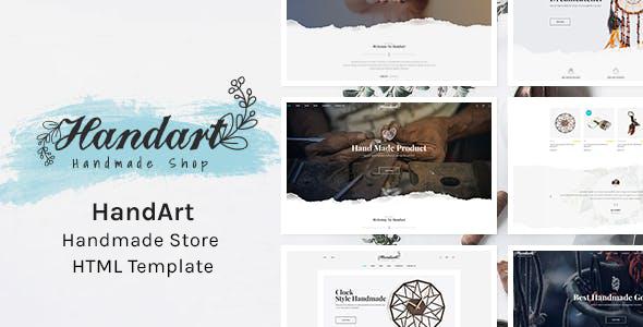 HandArt - Handmade Store HTML Template        TFx Arlie Sparrow