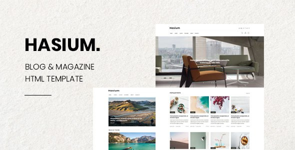 Hasium - Blog & Magazine PSD Template        TFx Brantley Darma
