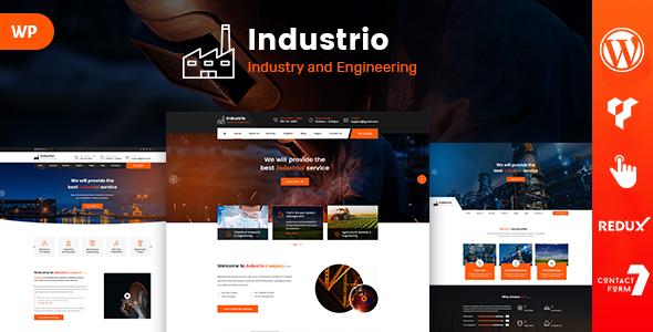 Industrio - Engineering WordPress Theme        TFx Laurence Mack
