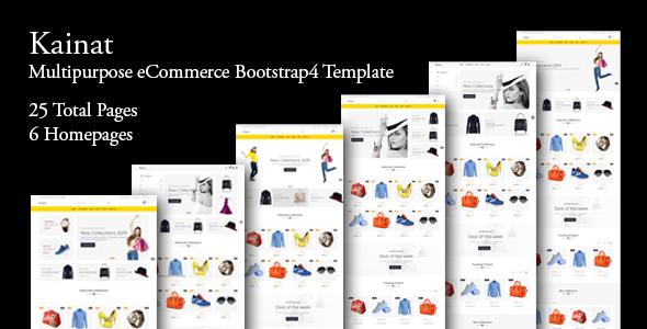 Kainat - Multipurpose eCommerce Bootstrap 4 Template        TFx Jules Johnathan