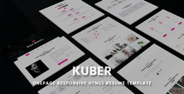 Kent - Onepage Responsive HTML5 Resume Template        TFx Akio Adam