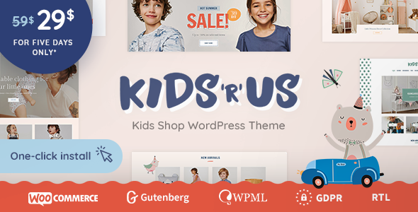 Kids R Us - Toy Store and Kids Clothes Shop Theme        TFx Murray Kaoru