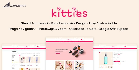 Kitties - Beauty Responsive BigCommerce Theme        TFx Kent Deven