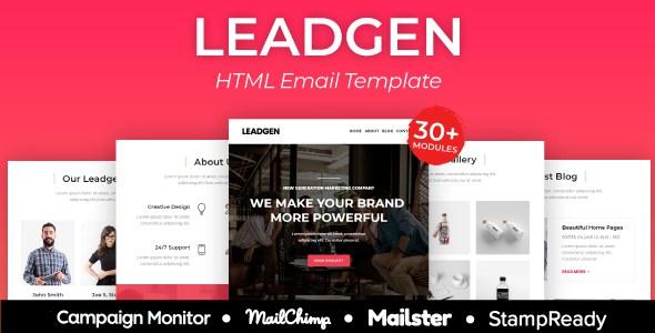 Leadgen - Multiprupose Responsive Agency Email Template + Stampready Builder + Mailster & Mailchimp        TFx Iggy Geordie