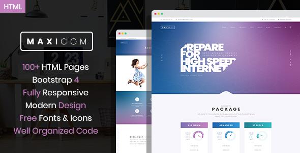 Maxicom - Internet Company HTML Template        TFx Cyprian Hokolesqua