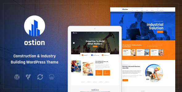 Ostion - Construction & Industry Building Company WordPress Theme        TFx Xquenda Ansel