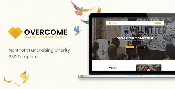 Overcome – Charity Multipurpose Non-profit PSD Template        TFx Fenton Merv