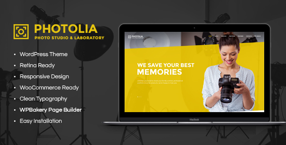 Photolia | Photo Company & Photo Supply Store WordPress Theme        TFx Nowell Norris