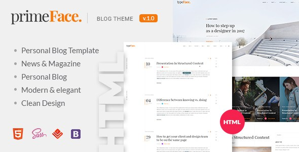 PrimeFace - HTML Responsive Blog and eCommerce Template        TFx Riley Hall