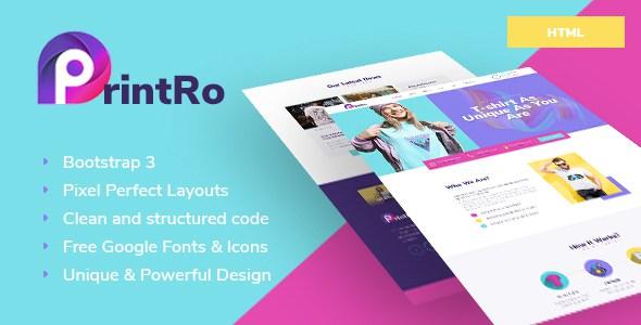 PrintRo - T-Shirt Designer HTML Template        TFx Gorou Cuthbert