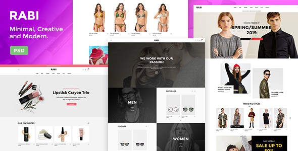 Rabi - Multipurpose Ecommerce PSD Template        TFx Wil Kenith