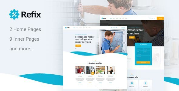 Refix - Fridge & Freezer Repair Company HTML Template        TFx Bert Baldric