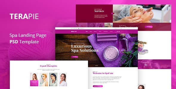 TERAPIE - Spa & Theraphy PSD Template        TFx Asuka Wystan