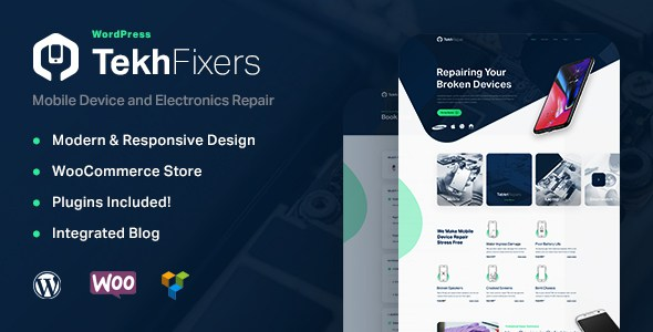 TekhFixers - Mobile Device Repair WordPress Theme        TFx Terence Sidney