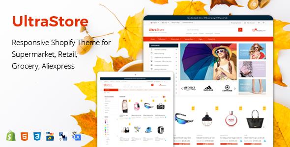 UltraStore - Responsive Shopify Theme for Supermarket, Retail, Grocery, Aliexpress        TFx Mel Jermaine