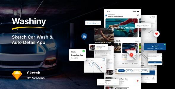 Washiny - Sketch Car Wash & Auto Detail App        TFx Jonty Ellis