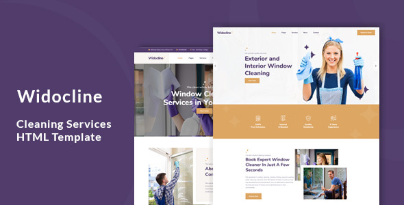Widocline - Professional Window Cleaning Services HTML Template        TFx Frederick Paul