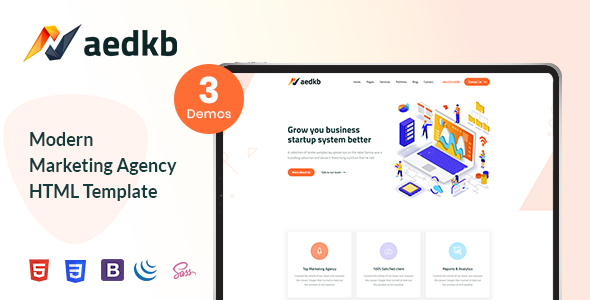 Xaedkb - Digital Marketing HTML Template        TFx Bradley Oz