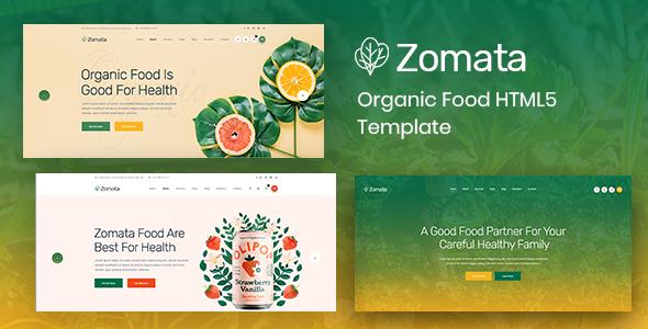 Zomata - Organic Food HTML5 Template        TFx Gusti Shannon