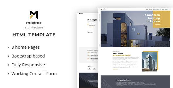 modrox - Architecture And Interior HTML Template        TFx Driscoll Fox