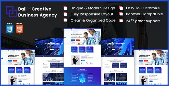 Bali - Creative Business Agency HTML5 Template        TFx Dell Jake