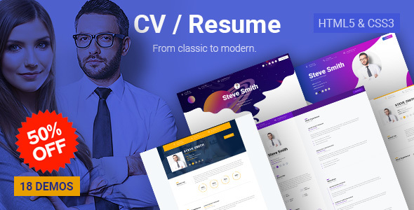 Business CV - HTML5 Online Resume & Personal Portfolio        TFx Matthew Yori