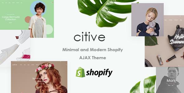 Citive - Minimal and Modern Shopify AJAX Theme        TFx Napier Johnathan
