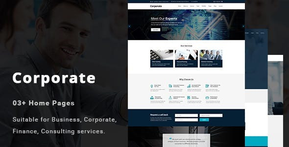 Corporate - Business, Professional and Consulting Services Joomla Template        TFx Dan Storm