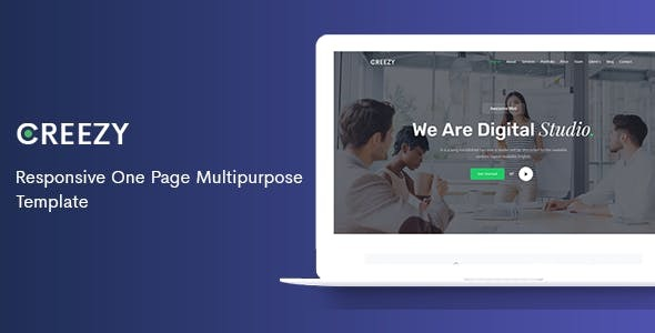 Creezy - Responsive One Page Multipurpose Joomla Template        TFx Plutarch Darrell