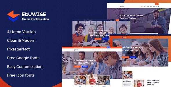 Eduwise - Education Bootstrap 4 Template        TFx Hamilton Wilbur