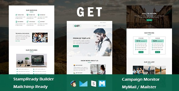 Get - Multipurpose Responsive Email Template With Online StampReady Builder Access        TFx Junior Waman