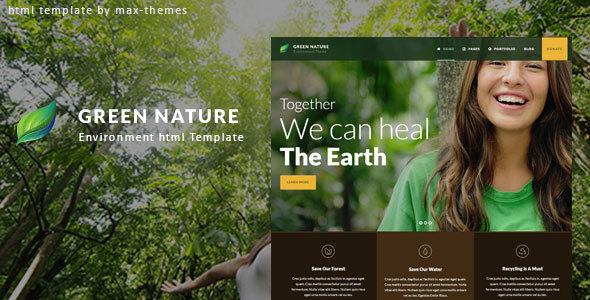 Green Nature - Environmental HTML Template        TFx Herman Ronny
