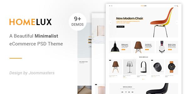 Homelux - Creative eCommerce PSD Template        TFx Ameyalli Cory