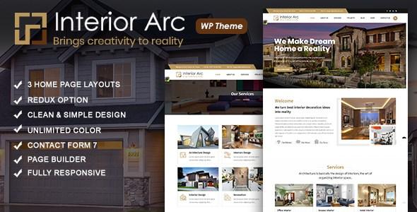 Interior Arc - Architecture WordPress Theme        TFx Cy Blythe