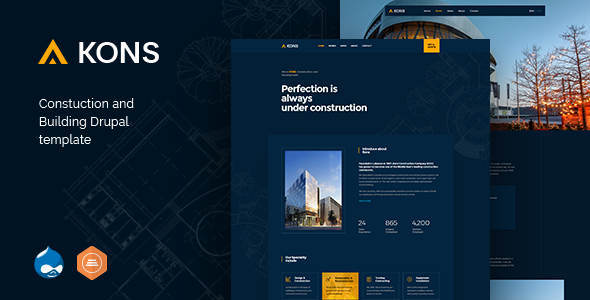 Kons - Construction and Building Drupal 8 Theme        TFx Maximillian Treogan