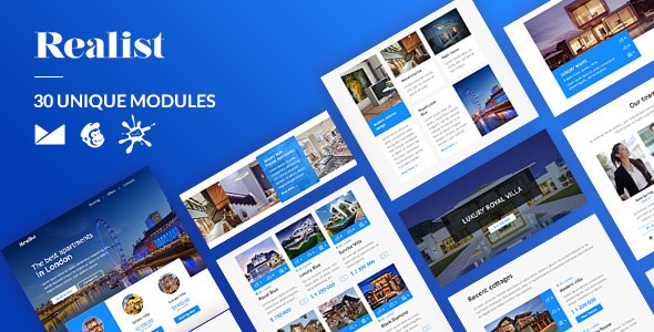 Realist Email-Template + Online Builder        TFx Petros Ilbert