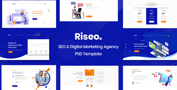Riseo - SEO Agency PSD Template        TFx Kaoru Edvard