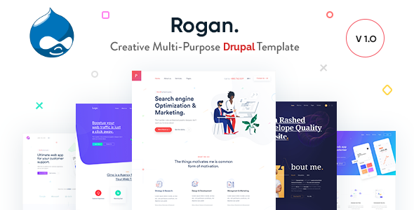 Rogan - Creative Multi-Purpose Drupal 8 Theme        TFx Taylor Virgil