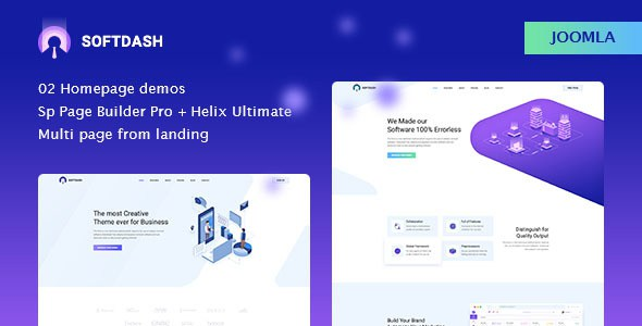 Softdash - Creative SaaS and Software Joomla Template with Page Builder        TFx Seward Nate