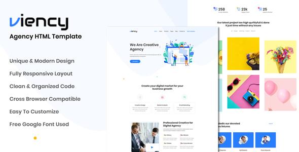Viency - Agency HTML Template        TFx Kendrick Blaze