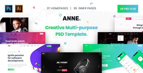 Anne - Creative Multi-Purpose PSD Template        TFx Eli Goddard